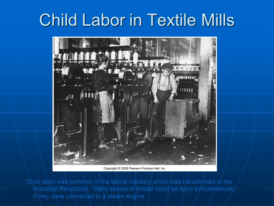 Child Labor in Textile Mills