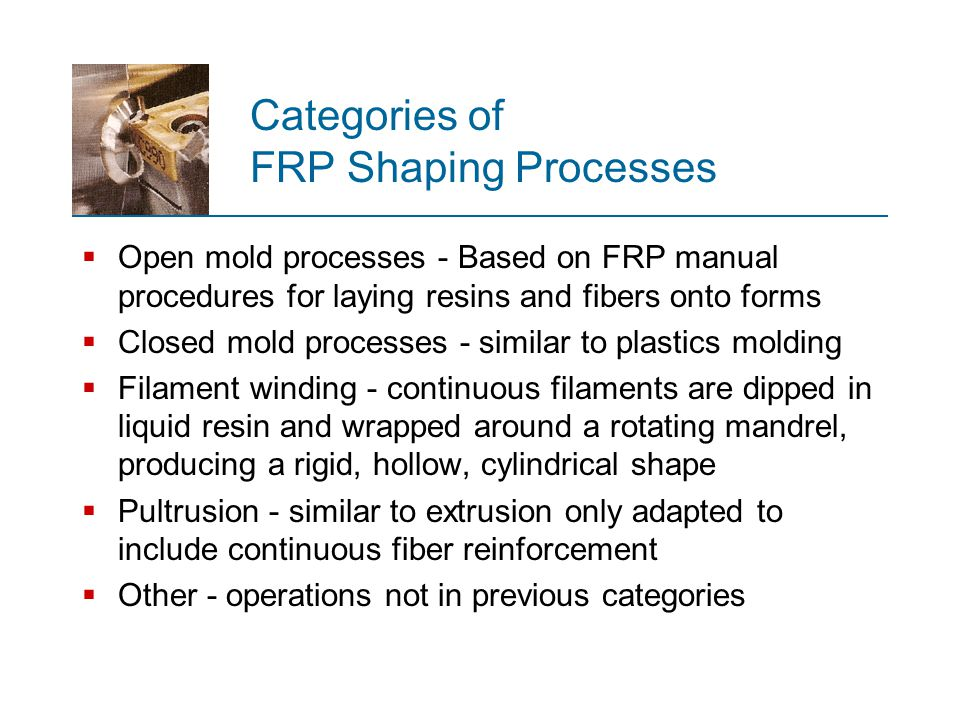 Categories of FRP Shaping Processes