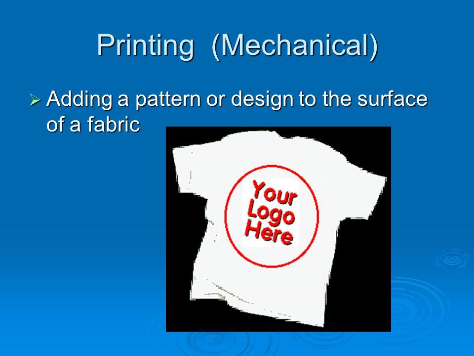 Printing (Mechanical)