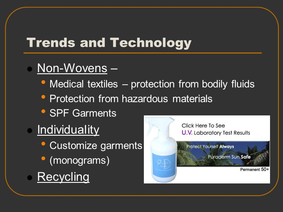 Trends and Technology Non-Wovens – Individuality Recycling