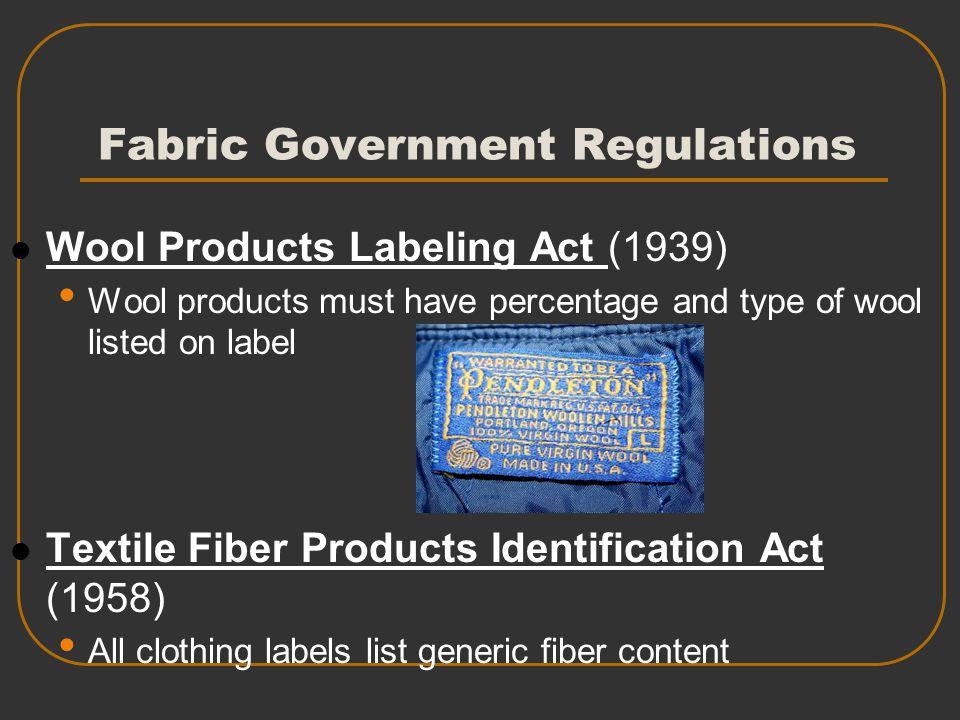 Fabric Government Regulations