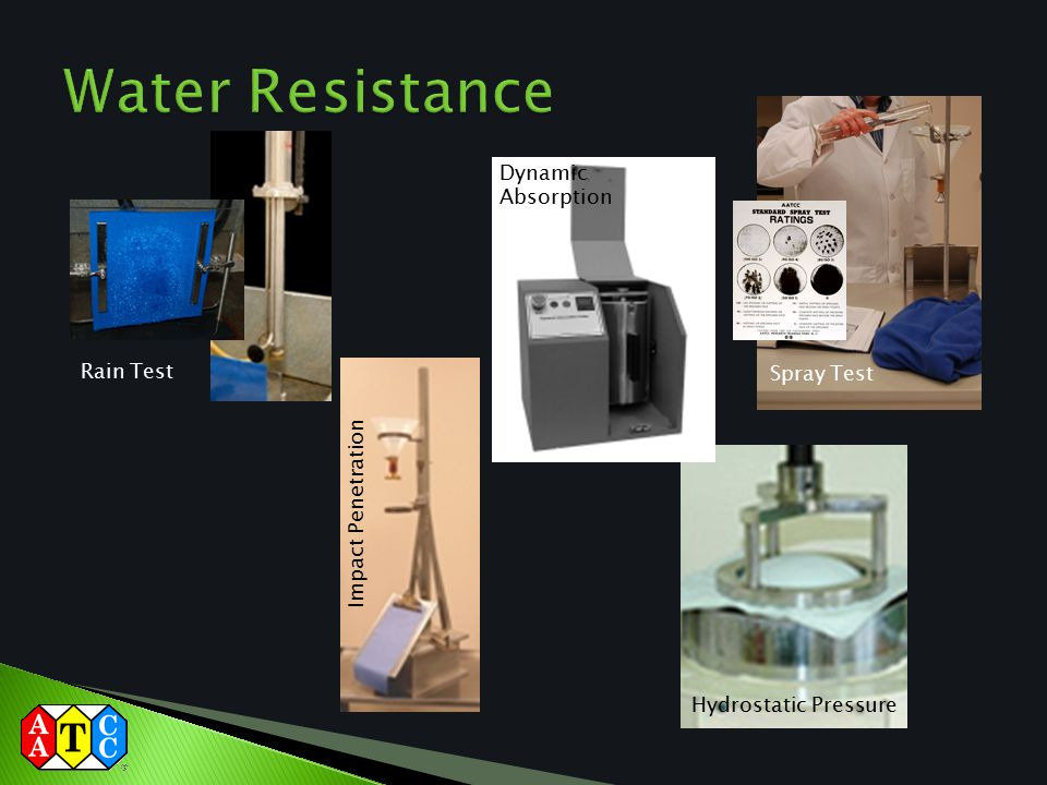 Water Resistance Dynamic Absorption Rain Test Spray Test