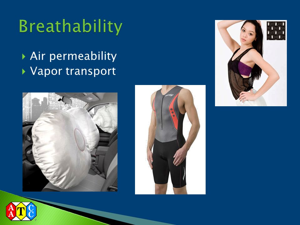 Breathability Air permeability Vapor transport