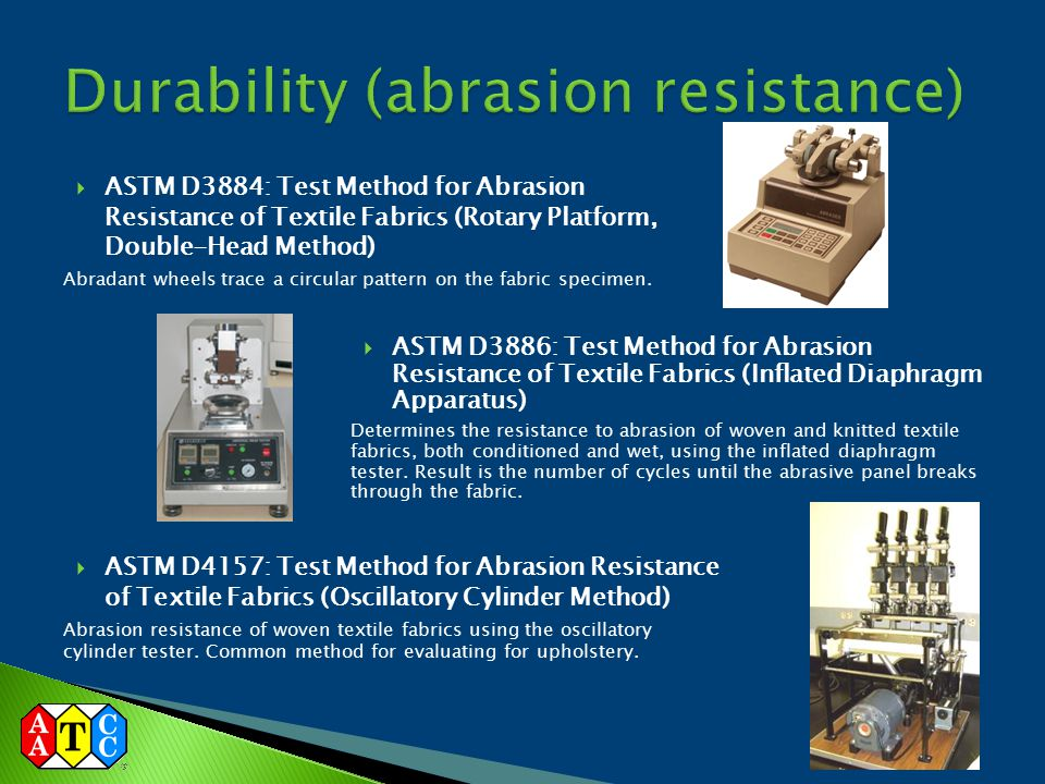 Durability (abrasion resistance)