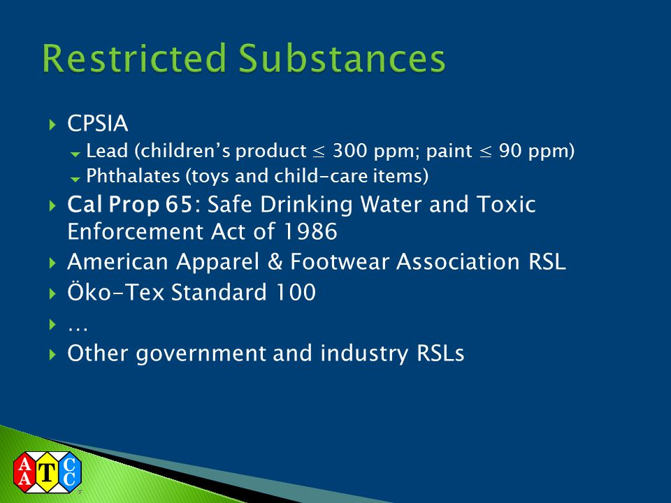 Restricted Substances