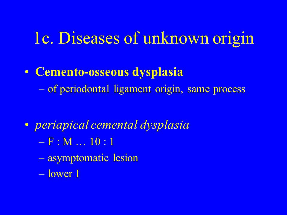 1c. Diseases of unknown origin