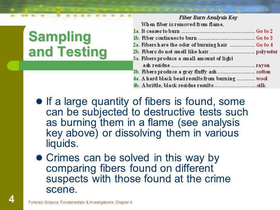 Sampling and Testing