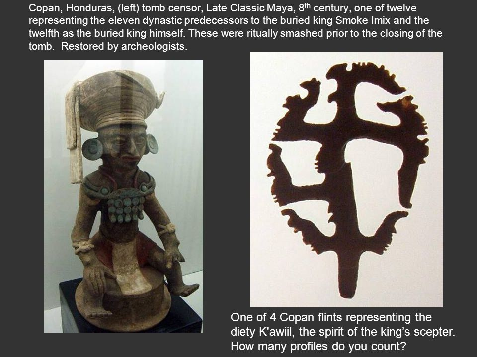 One of 4 Copan flints representing the
