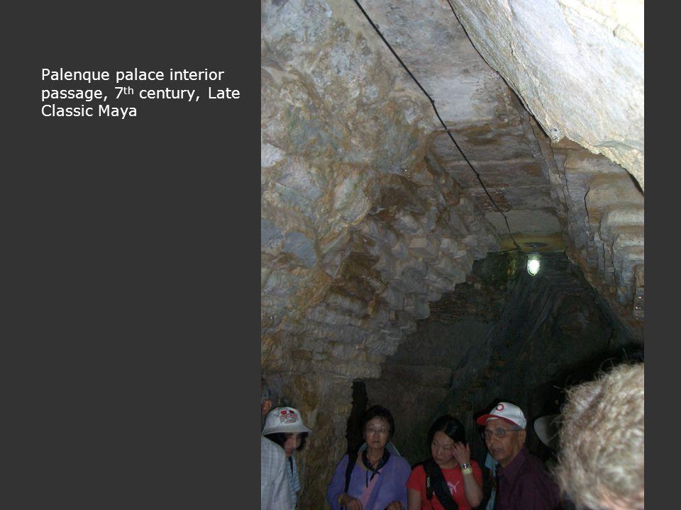 Palenque palace interior passage, 7th century, Late Classic Maya