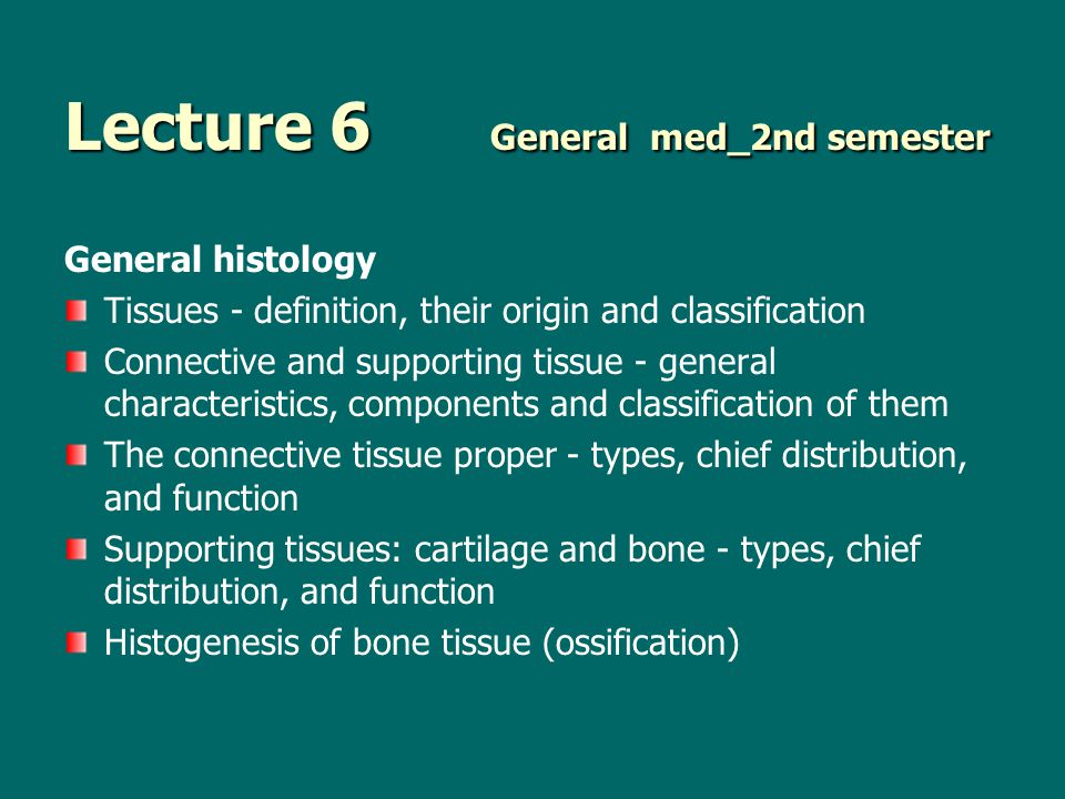 Lecture 6 General med_2nd semester