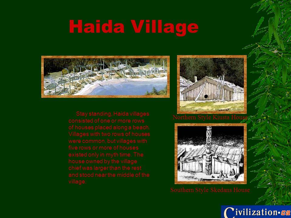 Haida Village Northern Style Kiusta House Southern Style Skedans House