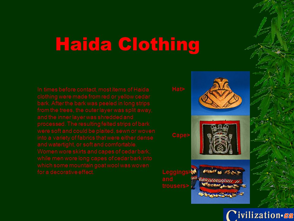 Haida Clothing Hat>