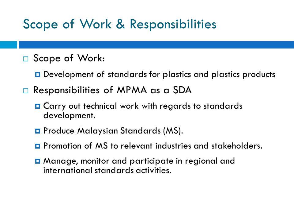 Scope of Work & Responsibilities