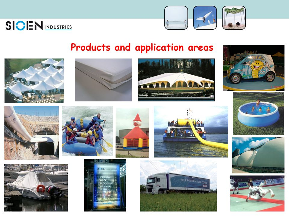 Products and application areas
