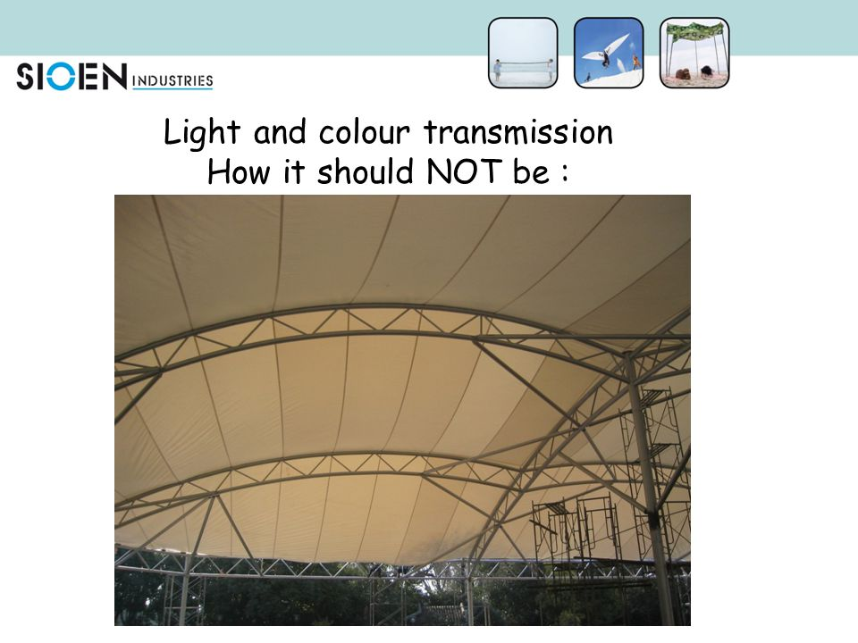 Light and colour transmission How it should NOT be :