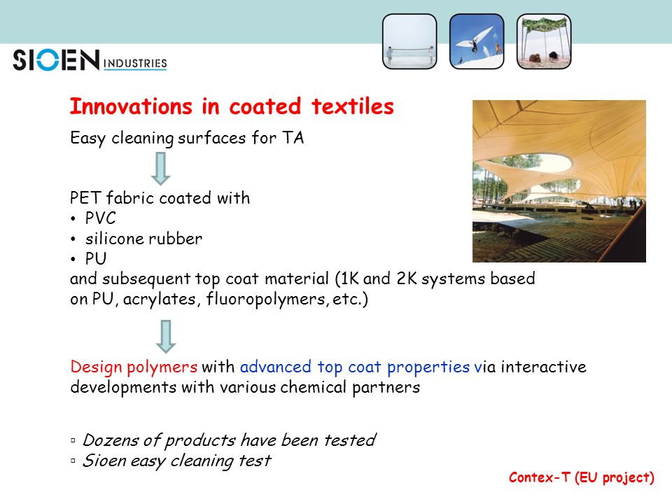 Innovations in coated textiles