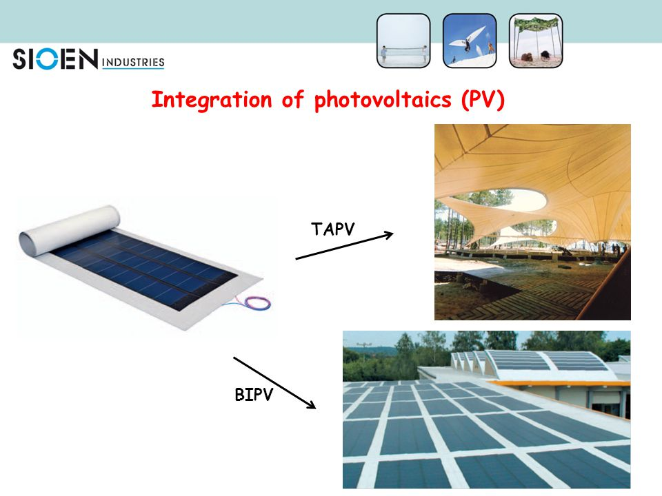 Integration of photovoltaics (PV)