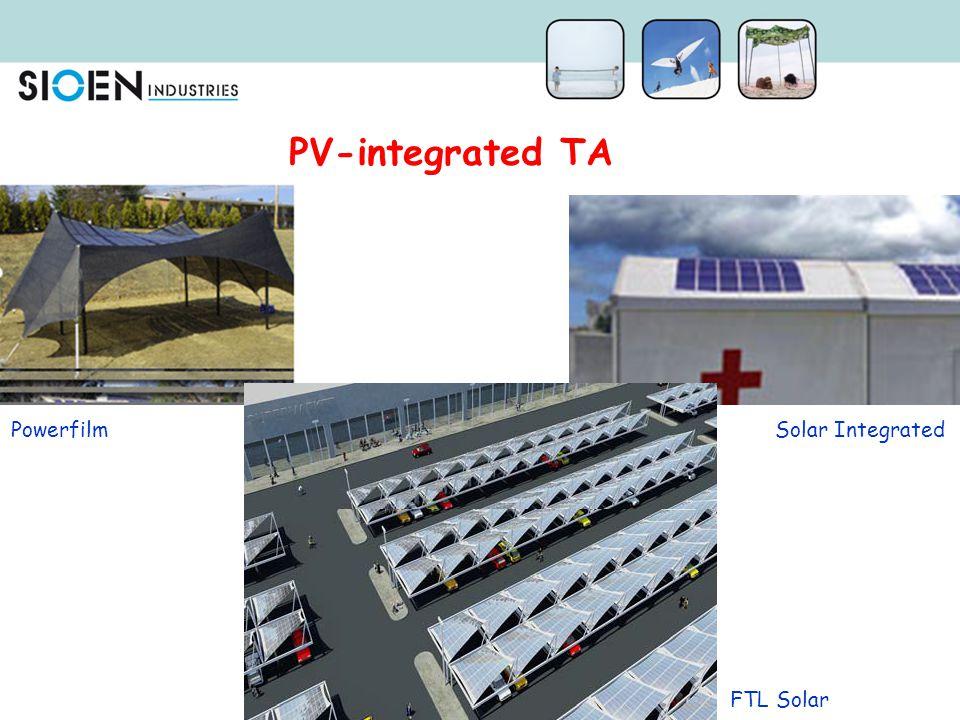 PV-integrated TA Powerfilm Solar Integrated FTL Solar