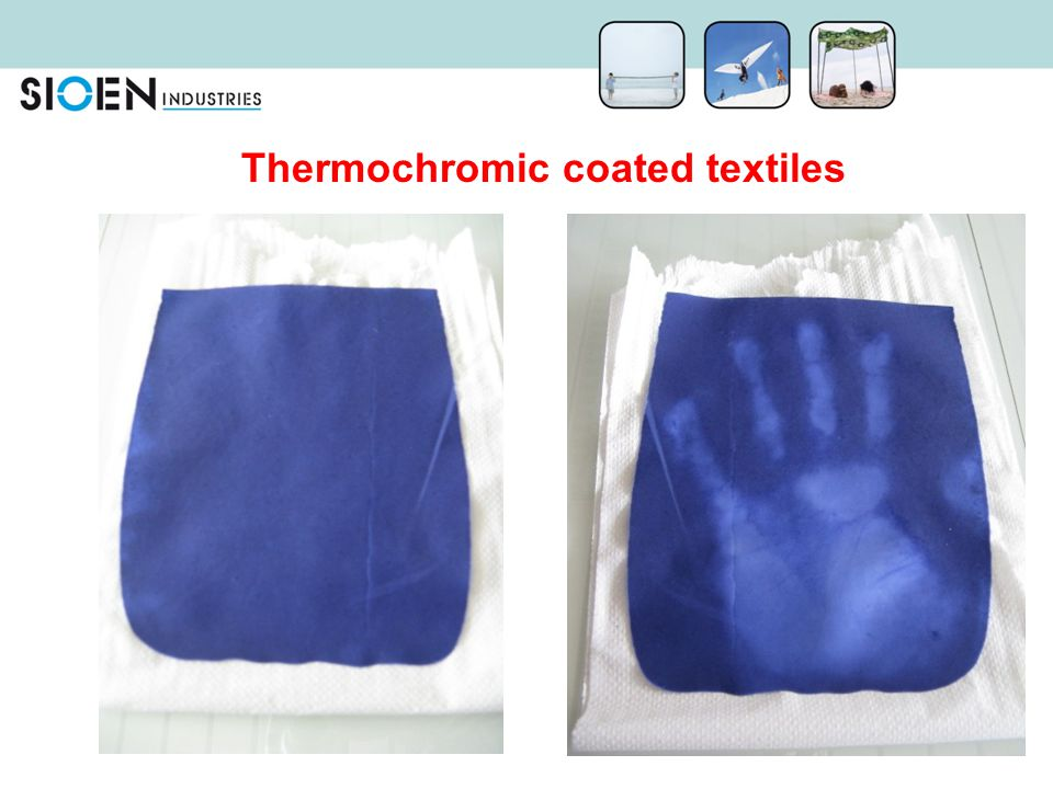 Thermochromic coated textiles