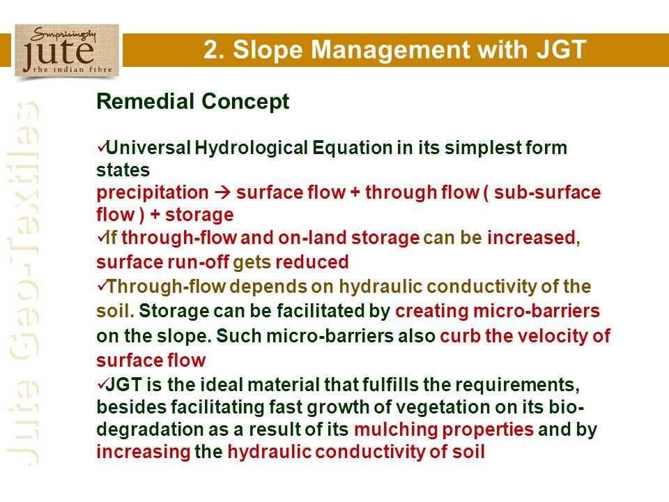 2. Slope Management with JGT