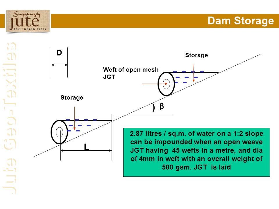 - - - - - - - - - Dam Storage ) L D β