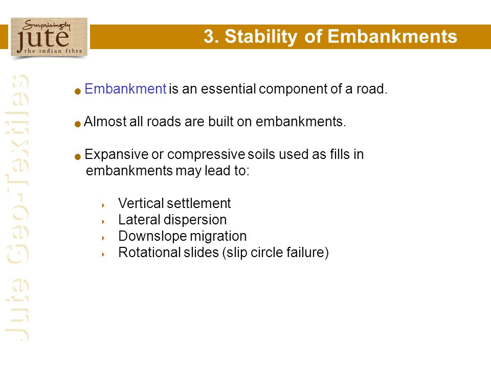 3. Stability of Embankments