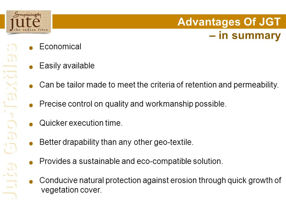 Advantages Of JGT – in summary