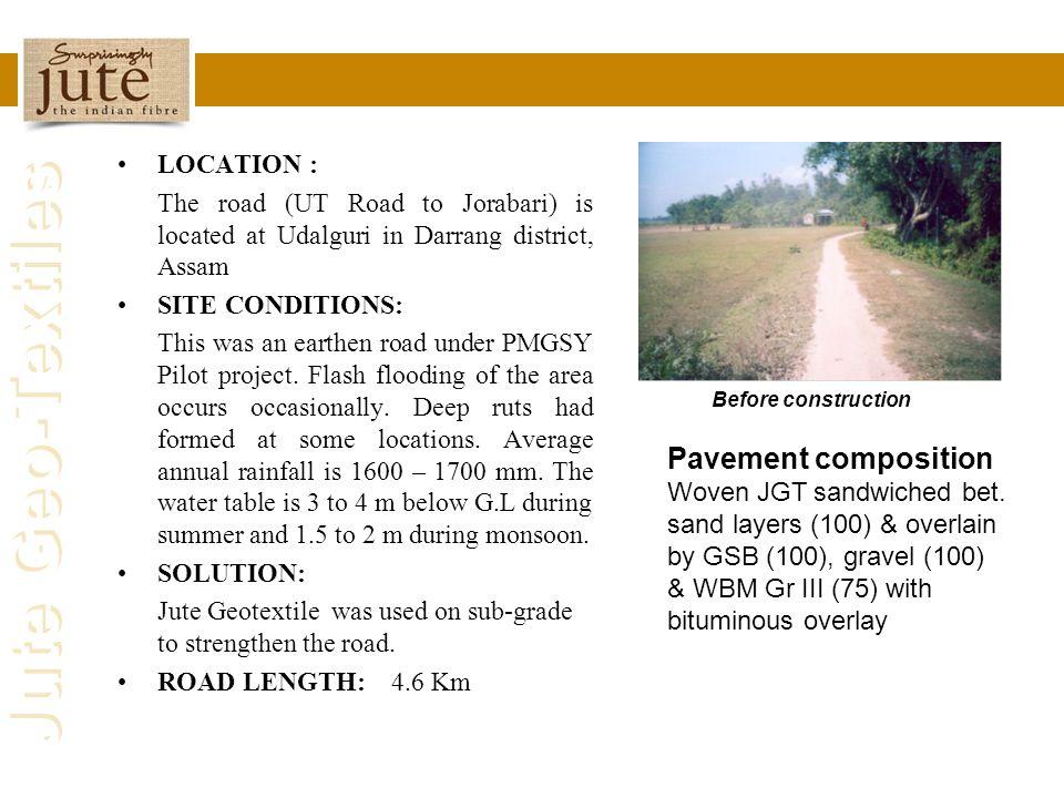 Pavement composition LOCATION :