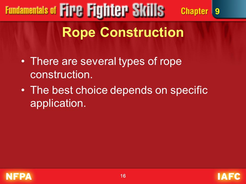 Rope Construction There are several types of rope construction.