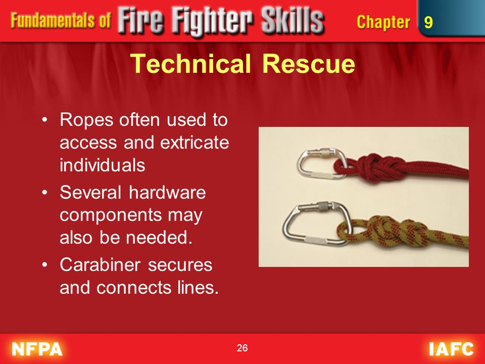 Technical Rescue Ropes often used to access and extricate individuals