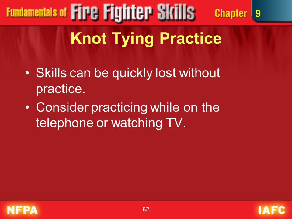 Knot Tying Practice Skills can be quickly lost without practice.