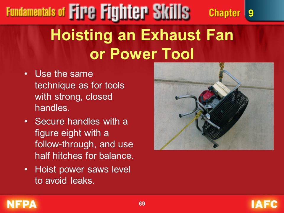 Hoisting an Exhaust Fan or Power Tool