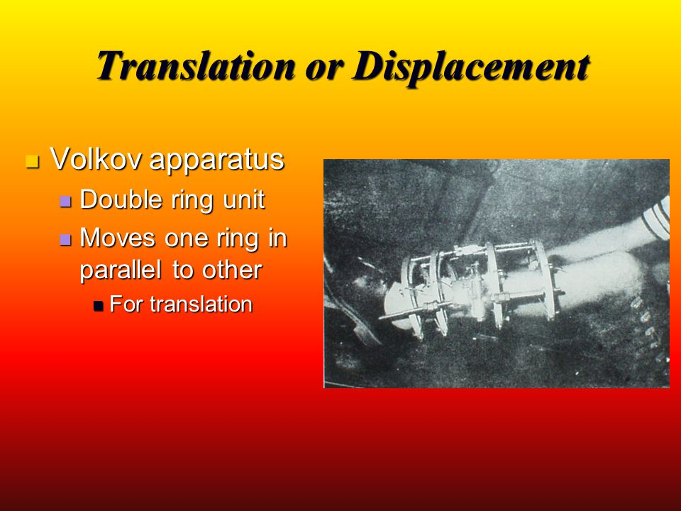Translation or Displacement