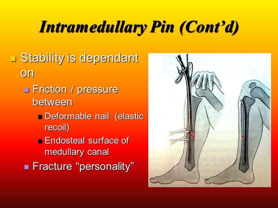 Intramedullary Pin (Cont'd)