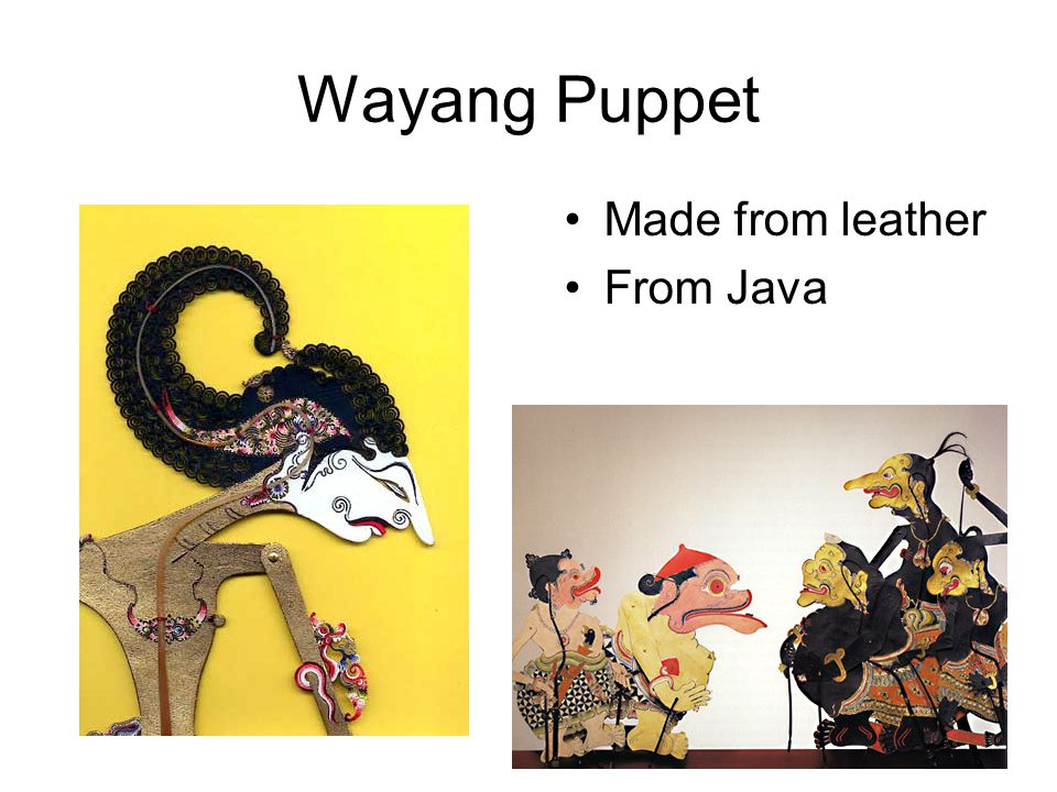 Wayang Puppet Made from leather From Java