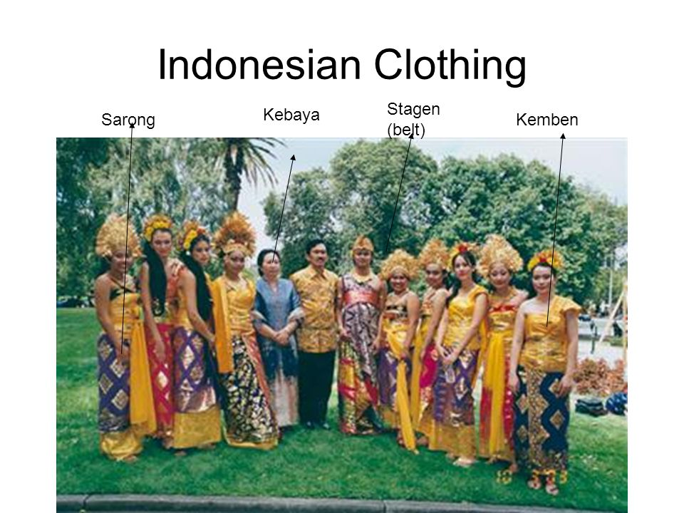 Indonesian Clothing Stagen (belt) Kebaya Sarong Kemben