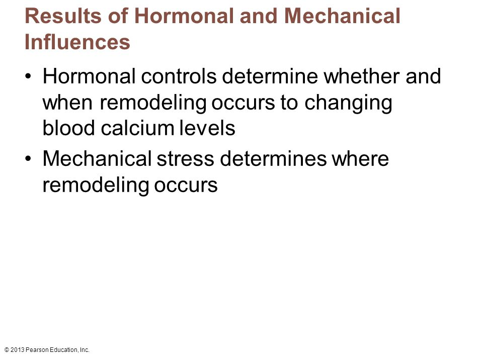 Results of Hormonal and Mechanical Influences