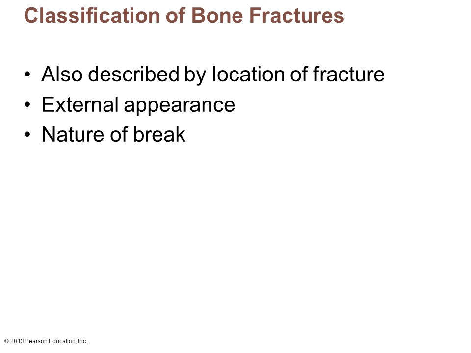 Classification of Bone Fractures