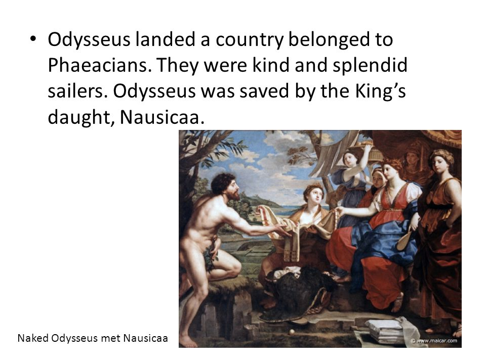Odysseus landed a country belonged to Phaeacians