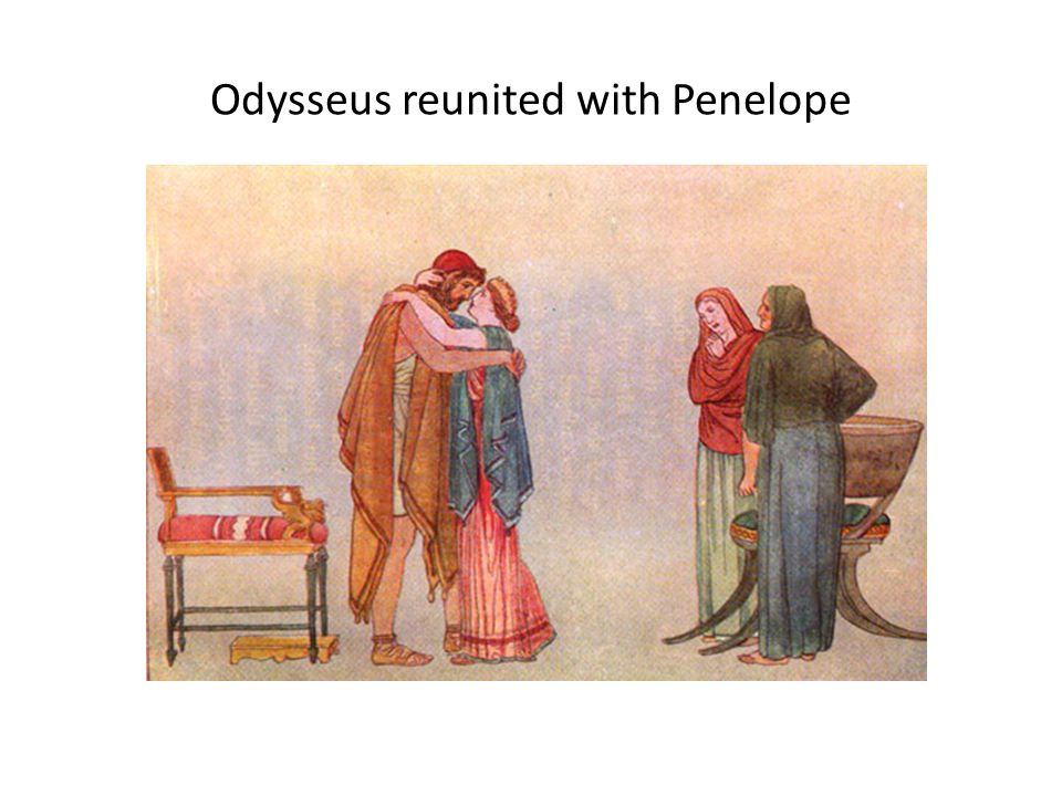 Odysseus reunited with Penelope