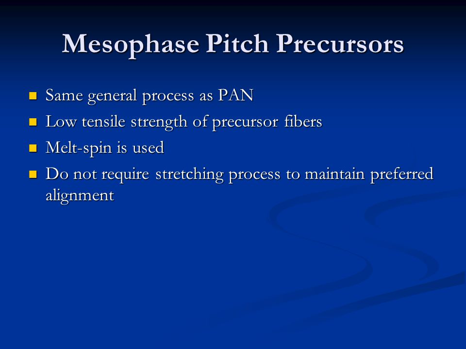Mesophase Pitch Precursors