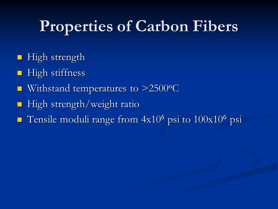 Properties of Carbon Fibers