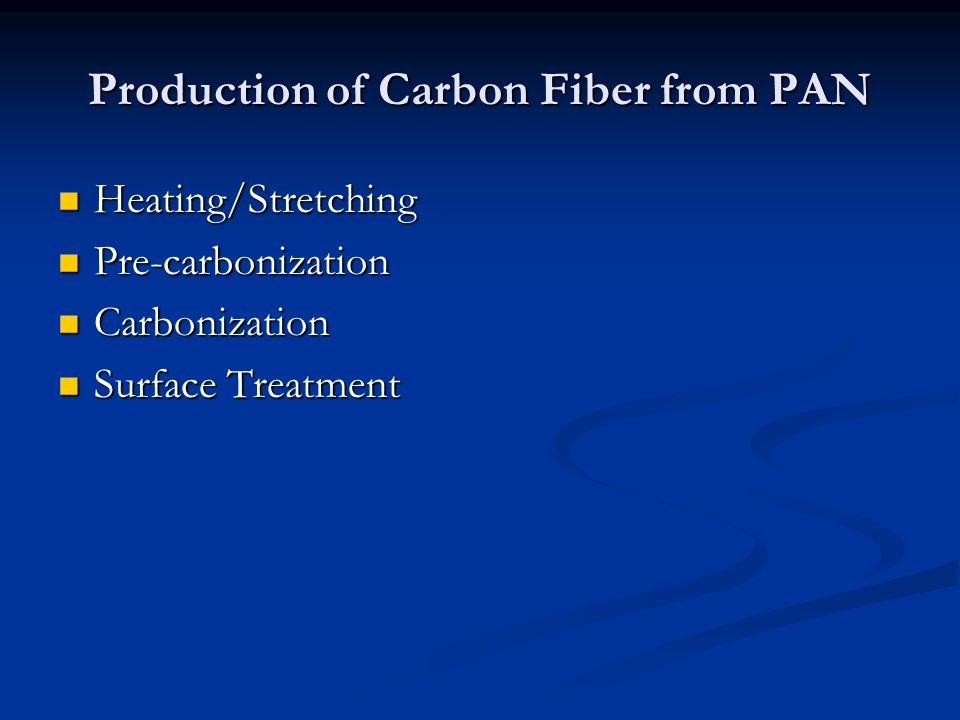 Production of Carbon Fiber from PAN