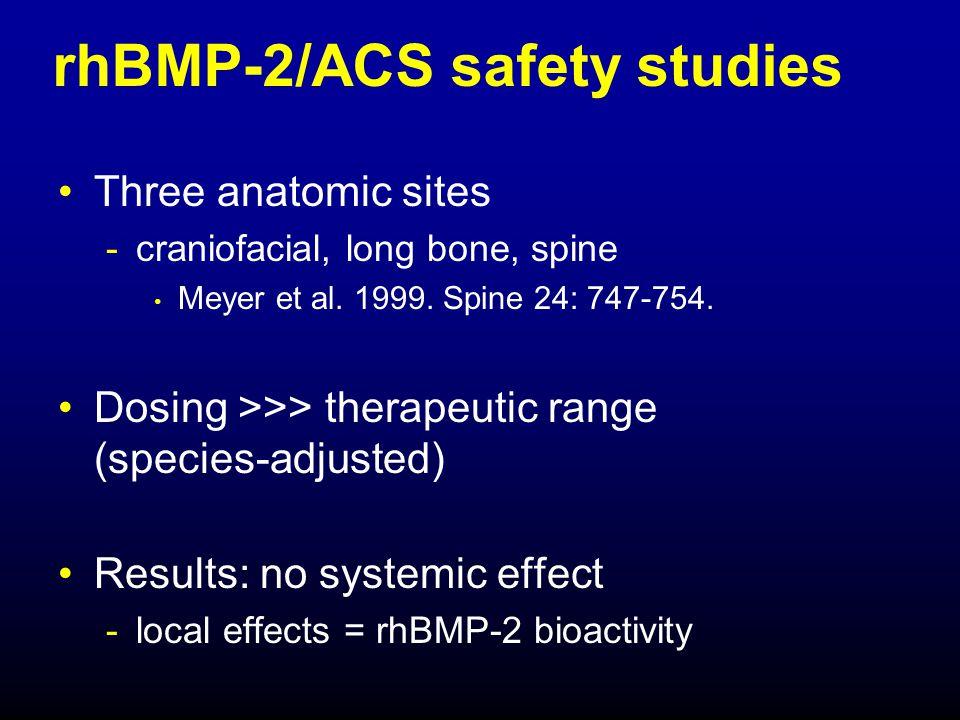 rhBMP-2/ACS safety studies