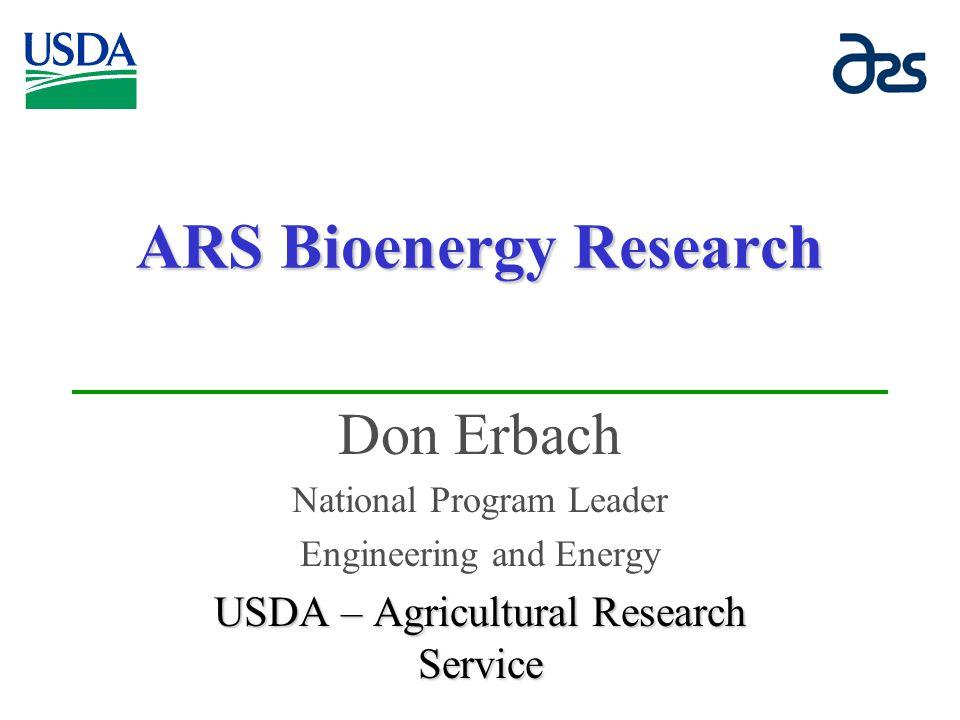 ARS Bioenergy Research