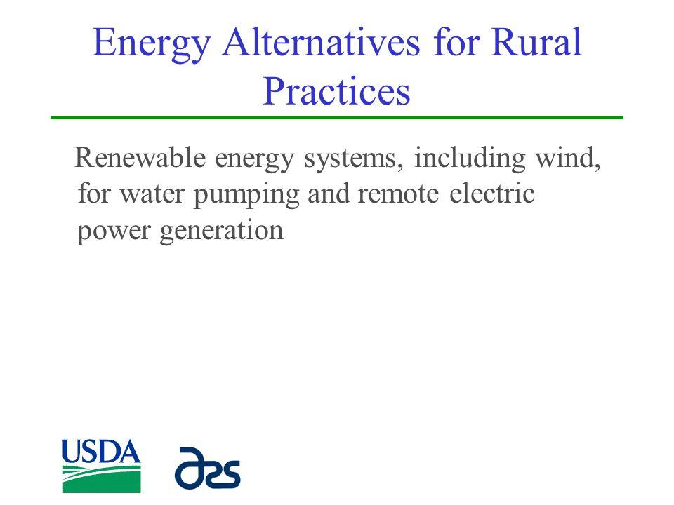 Energy Alternatives for Rural Practices