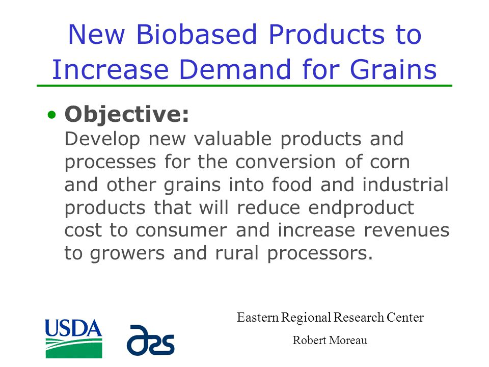 New Biobased Products to Increase Demand for Grains