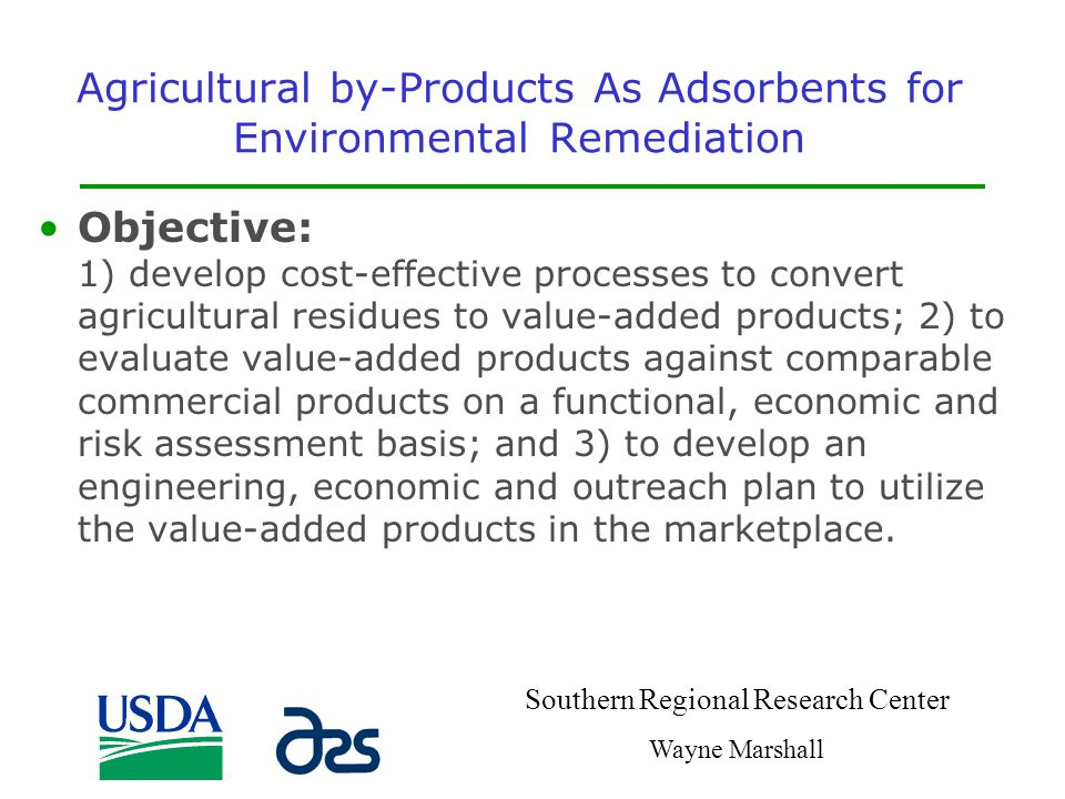 Agricultural by-Products As Adsorbents for Environmental Remediation