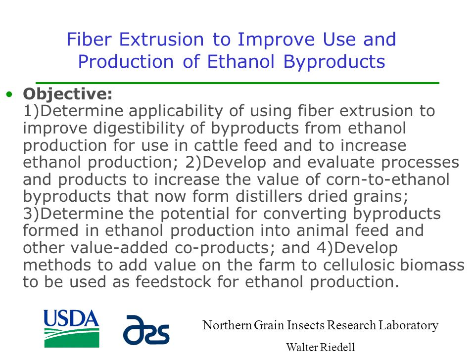 Fiber Extrusion to Improve Use and Production of Ethanol Byproducts