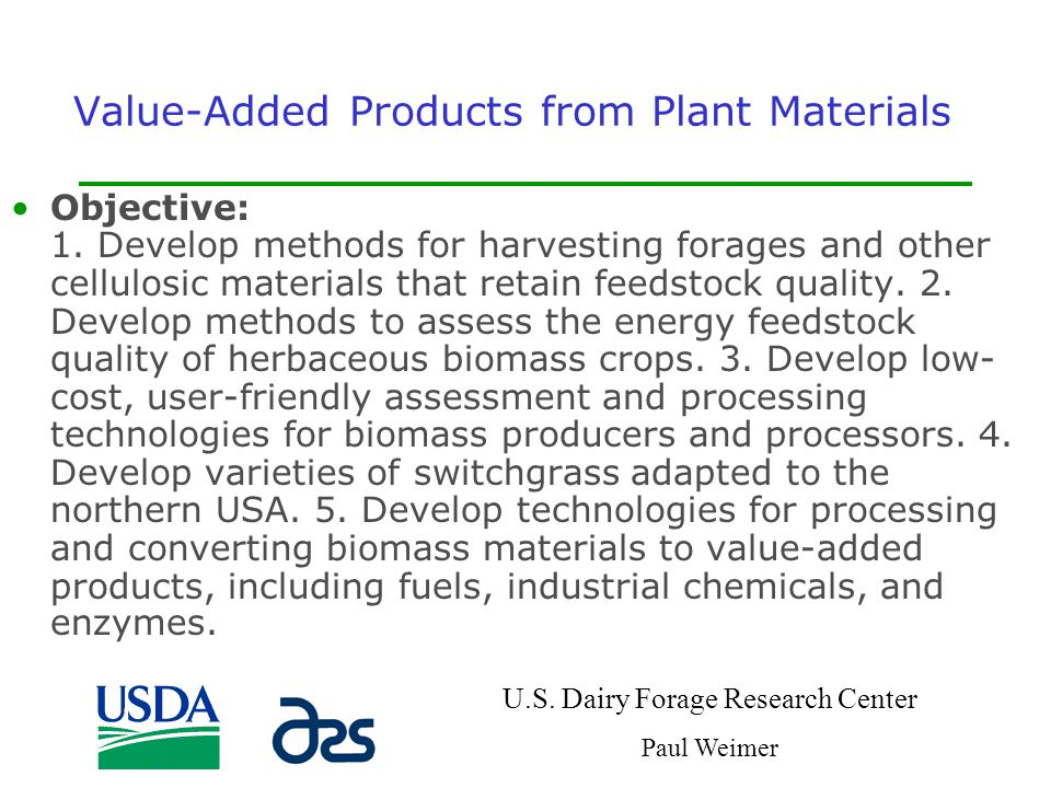 Value-Added Products from Plant Materials